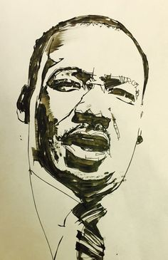 therealthatpolishguy MLK black & white sketch while waiting for watercolor to dry Black Art, Black And White, Movie Crafts, Power Tattoo, Pikachu Art, Pop Art Portraits, Pencil Portrait, Martin Luther King Day, Book Illustration