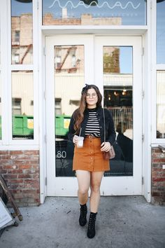 Noelle shares how she styles her favorite Denizen jacket! Fall Plaid, Corduroy Skirt, Fall Jackets, Plaid Dress, Her Style, Perfect Fit, Mom Jeans, Leather Skirt, Favorite Things