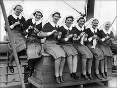 knitting nurses at sea
