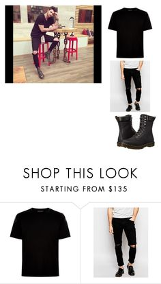 """Osman Yiğit"" by aylinbagirova ❤ liked on Polyvore featuring Valentino, Hoxton, Dr. Martens, men's fashion and menswear"