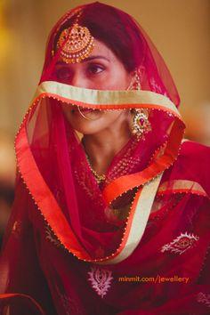punjabi bride veiled in red dulhan dreams - had i an indian wedding