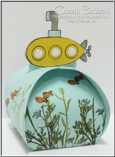 Tour de Freaks blog hop for July 2015, You're Sublime, curvy keepsake box, favor, Stampin' Up!, #stampinup, yellow submarine, created by Connie Babbert, www.inkspiredtreasures.com