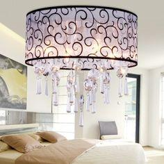 Lámpara de Techo Araña de Cristal de 4 Bombilla E14 4x40W Elegante para Salón