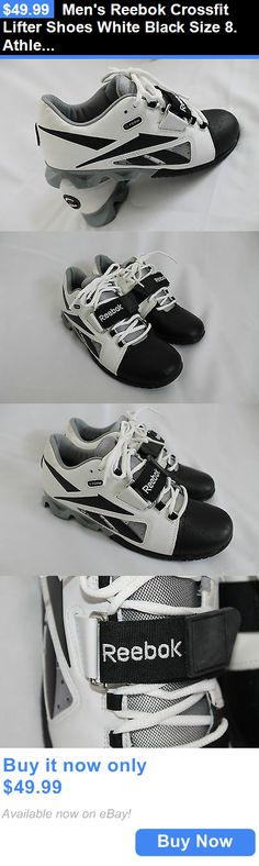 clothing and accessories: Mens Reebok Crossfit Lifter Shoes White Black Size 8. Athletic Leather New BUY IT NOW ONLY: $49.99