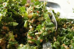 FooDabbler - andres weal's kale garlic salad w bread crumbs and lemon vinaigrette