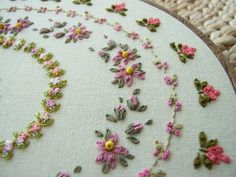 Hand Embroidered Wall Hanging by sweetheartsandroses on Etsy