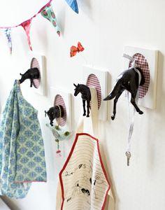 plastic animal hooks!