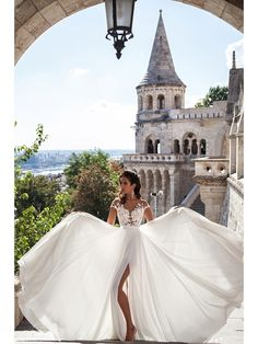 Cap Sleeves Lace Bodice High Split Wedding Dresses Bridal Gowns 4301013