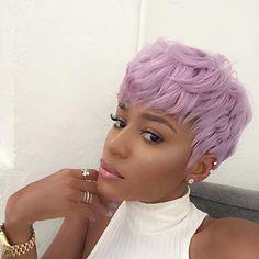 Pastel Lavender Hair Color Idea