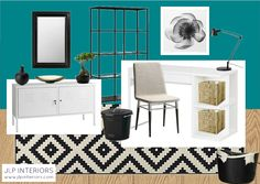 Home with Baxter: Mood Board Monday! (An All-IKEA Office)