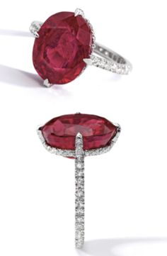 JAR Ruby and Diamond thread ring