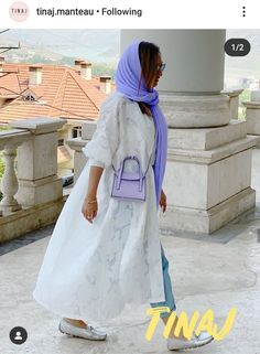 Iranian Women Fashion, Muslim Fashion, Hijab Fashion, Fashion Outfits, Womens Fashion, Persian Girls, Head Scarf Styles, Satin Fabric, Unique Fashion