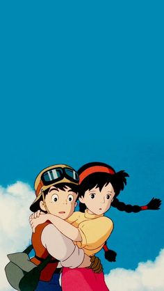 Studio ghibli,castle in the sky,hayao miyazaki Movie Wallpapers, Animes Wallpapers, Cute Wallpapers, Phone Wallpapers, Iphone Backgrounds, Fanart Manga, Anime Manga, Anime Art, Sky Anime