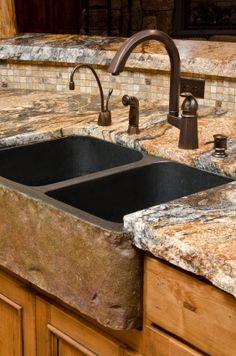 rough edge granite kitchen countertops - Google Search