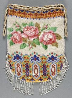 Музей искусств Филадельфии - коллекции объект : женщины вышитый бисером мешок