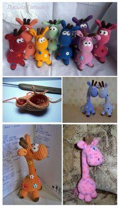 SYMBOLS: CA - amigurumi ring Bn - air loop Sbn - column without crochet Pr - the increase of Ub - Amigurumi Giraffe, Amigurumi Doll, Amigurumi Patterns, Crochet Patterns, Amigurumi Tutorial, Crotchet Bags, Giraffe Pattern, Color Naranja, Filet Crochet