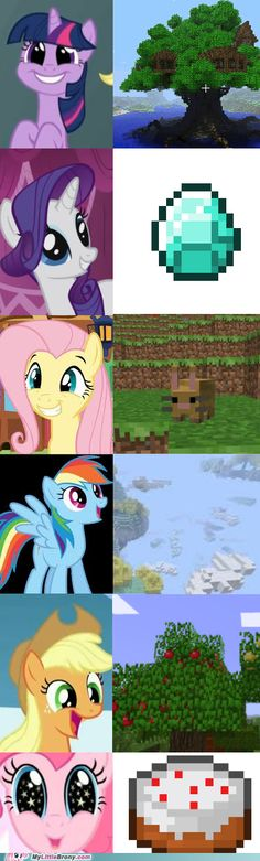 My Little Pony  +Minecraft