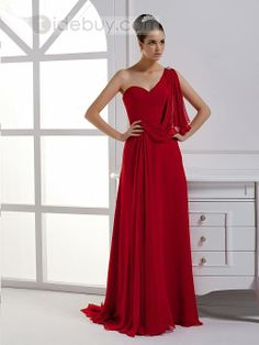 New A-Line Floor-Length One-Shoulder Prom/Evening Dress : Tidebuy.com