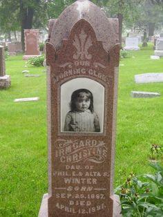 "Irmgard Christine Winter, daughter of Philip and Alta Winter. 1887 - 1891. ""Our morning glory"" Wyuka Cemetery, Lincoln, NE :("