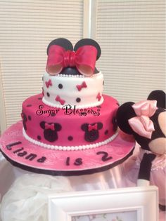 Minnie Mouse double tier cake :)
