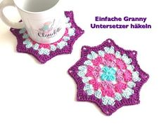 Easy To Crochet These Great Coasters In Granny Pattern - ilove-crochet
