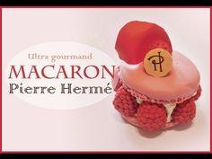 Macaron Ispahan Pierre Hermé en fimo/ French Macaron Ispahan Polymer Clay Tutorial - YouTube