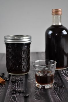 homemade spiced coffee liqueur