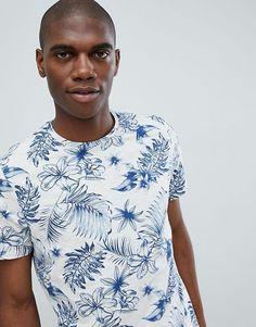 Burton Menswear | Camiseta con estampado de flores en tono crudo de Burton Menswear