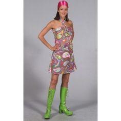 Déguisement hippie chic bohème années 60's-70's femme, robe hippie deluxe.