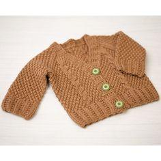 Valley Yarns 776 Maple Baby Cardigan Kit - Natural (02)