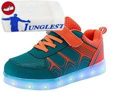 [Present:kleines Handtuch]Rot EU 44, Schuh Männer athletische High USB weise leuchten Lade Frauen Paar JUN