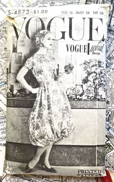 Vogue 4873  1950s Womens Harem Skirt Dress Pattern  by Fragolina, $78.00---use the scarf