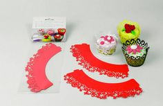 bordo per cupcake - rosso www.dolcementeweb.com