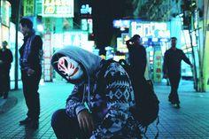 World Photography, Urban Photography, Kitsune Mask, Fox Spirit, Cyberpunk Aesthetic, Dope Wallpapers, Colored Smoke, Lost Boys, Human Art