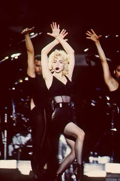 """Vogue"" Blond Ambition Tour 1990 ""I know a place where you can get away, its called the dance floor, and here's what its for""..."