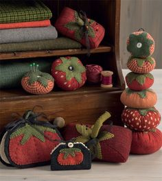 Collection of tomato pincushions