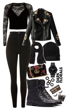 """""""Untitled #100"""" by elsa-ebervik on Polyvore featuring Steve Madden, Topshop, River Island, WithChic and Gucci"""