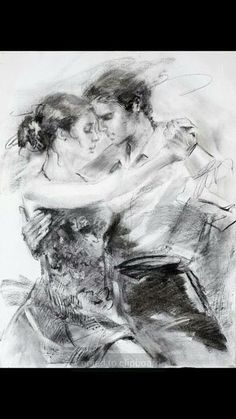 Kai Fine Art is an art website, shows painting and illustration works all over the world. Art Romantique, Art Sketches, Art Drawings, Tango Art, Tango Dancers, Dancing Drawings, Couple Painting, Dance Paintings, Romance Art