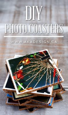 Easty to make, these DIY Photo Coasters will keep your favorite photos nearby and totally display-worthy!