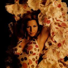 See original image Adriana Abenia, Divas, Flamenco Dancers, Jessica Biel, Female Singers, Original Image, Cool Cats, Polka Dots, 1970s