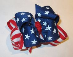 American Flag Patriotic Fabulous Double by MyBellaBellaBowtique, $5.95