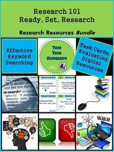 Information seeking skills are essential to any career! This teaching packet provides teachers with the tools needed to ensure students can locate quality digital texts and make informed choices when accessing and selecting online resources in their research. Research 101 resources include the following ready to use research packets now being sold individually - Digital Texts: Treasure or Trash, Ready, Set, Research! 30 slide powerpoint, 20 Research Task Cards with Student Response Sheet…