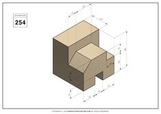 Isometric Drawing Exercises, Orthographic Drawing, H&m Home, Cad Drawing, Drawing Practice, 3d Modeling, Autocad, My Drawings, Geometry