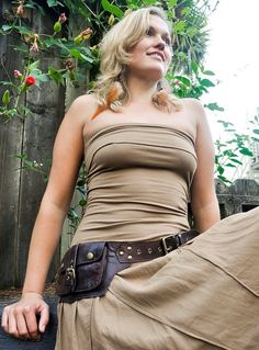Utility Leather Belt for your on the go needs LUMI by ELLKO, $135.00