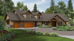 house plans craftsman ranch style schema kelly leaf home plan and Craftsman Style House Plans, Ranch House Plans, House Floor Plans, Craftsman Ranch, Craftsman Exterior, Rustic House Plans, Modern Craftsman, Metal Building Homes, Building A House