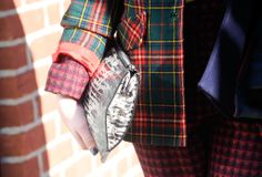 Best Street Style Shoes and Bags NY Fashion Week Fall 2014 ----  Get Up Close With Street Style's Best Accessories >>> Mixing exotic, plaid, and more print for an unexpectedly cool effect.