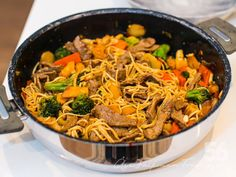 A Food, Food And Drink, Beef Dishes, Wok, Japchae, Broccoli, Pasta, Cooking, Ethnic Recipes