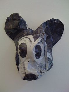 Cyril Hatt's Mickey Mouse, stapled photographic paper.
