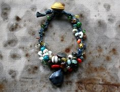 LaTouchables Bags and Things---a little story with a thread running through it. Handmade Bracelets, Jewelry Bracelets, Jewellery, French Antiques, Beaded Necklace, Bronze, Cuffs, Secluded Beach, Gold