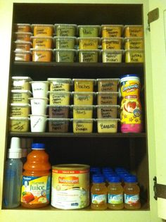 baby food organization. In my dreams I could keep this up!